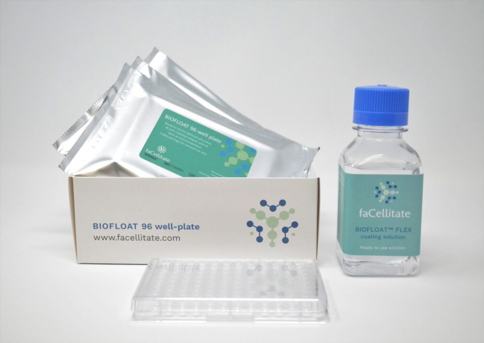 BIOFLOAT product line: pre-coated plates and coating solution for 3D cell culture